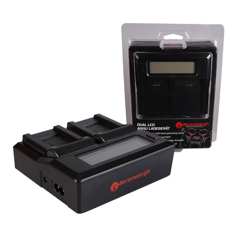 BERENSTARGH Dual LCD USB Ladegerät f. Canon Samsung BP 70A EOS C300 C300 PL Samsung BP 70A HA HA H1S
