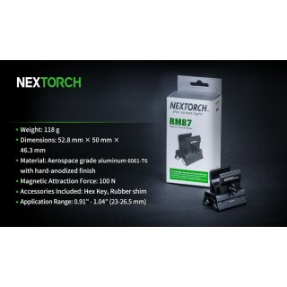 Nextorch RM87 (NEW) Magnethalter